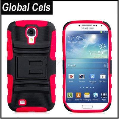 Estuche Case Samsung Galaxy S4 Robot en Rojo / Negro con clip para Pantalón y soporte para Videos