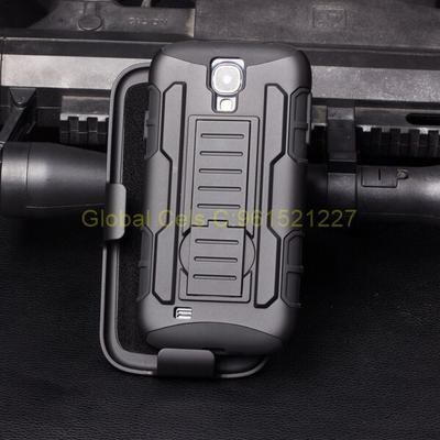 Holster Gorila Samsung GALAXY S4 / GALAXY S4 MINI con gancho para correa Case de 3 partes con parante inclinable