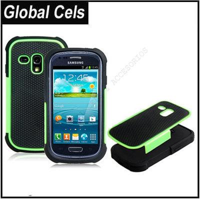 Estuche Case Verde Negro Samsung Galaxy S3 MINI Robot Anti Deslizante Anti Golpes Anti Polvo etc