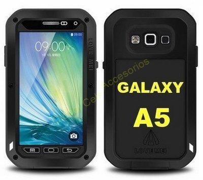 Case Protector LOVE MEI Samsung Galaxy A5 de Aluminio con Gorilla Glass , te da Protección Total !