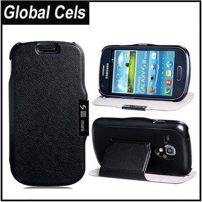 Estuche Funda MINI Samsung Galaxy S3 Rígida Negra con Soporte