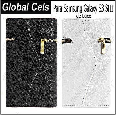 Estuche Samsung Galaxy S3 Monedero con Tapa de Bisagra Magnética