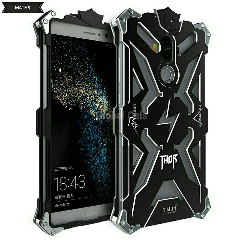 Case Metal Huawei Mate 9 Armadura Thor con Pernos Negro