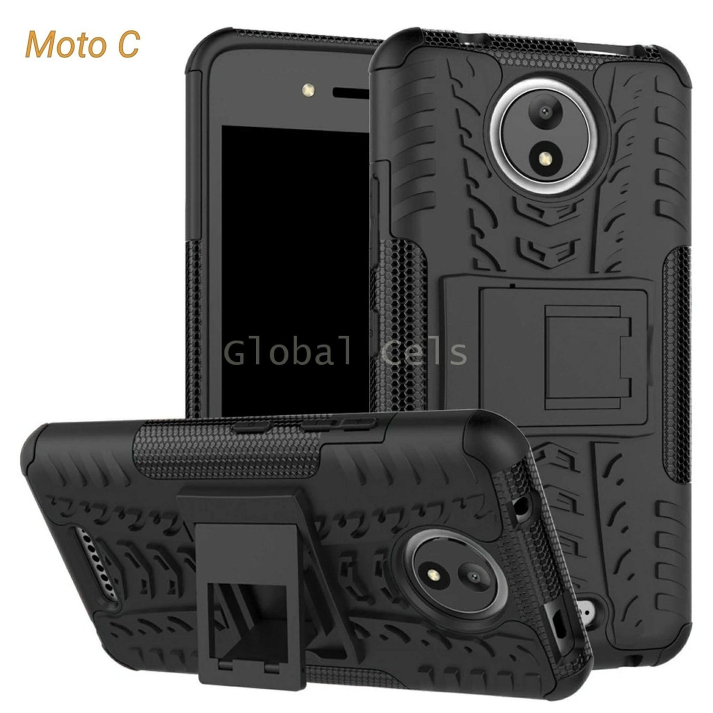 Case Moto C Motorola con Soporte Inclinable Antigolpe
