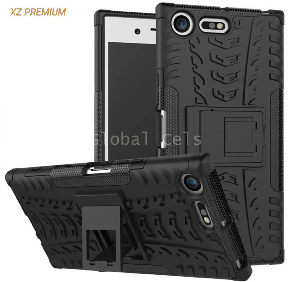 Case Sony Xperia XZ Premium con Soporte de inclinación Negros