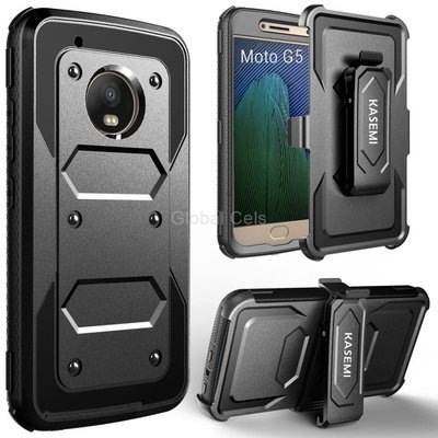 Case Moto G5 G5 Plus Armadura Protector Gancho y Parante Inclinable