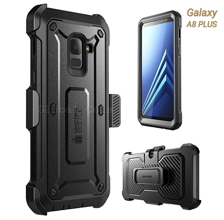 Case Funda Galaxy A8 Normal Protector 360 c/ Mica c/ Gancho
