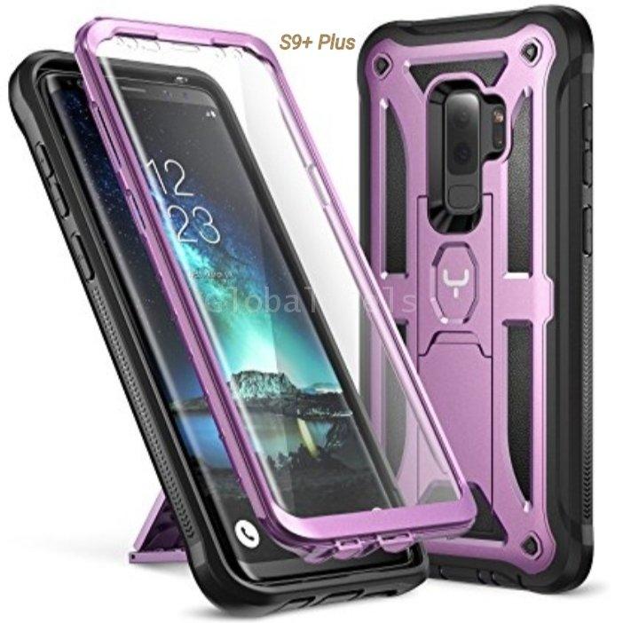 Case Galaxy S9 Plus S9+ Protector 360 Parante Vert Horz Púrpura Negro