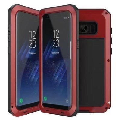 Case Samsung Galaxy Note 8 Empernado Protector 360 Metal Armadura Rojo Negra