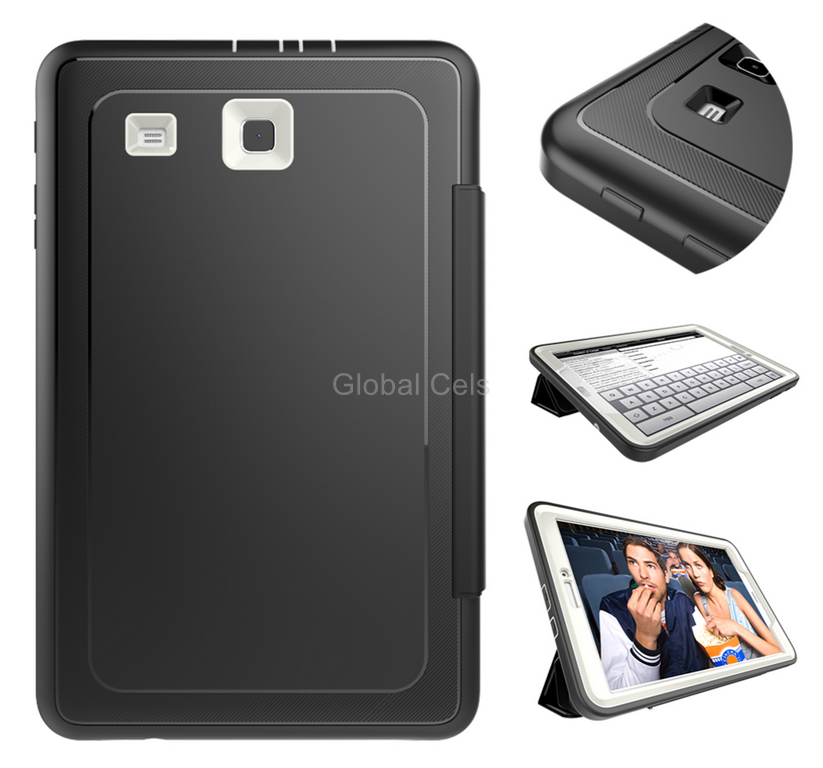 Case Galaxy Tab E 9.6 T560 de 4 partes Protector 360 + Tapa + Soporte