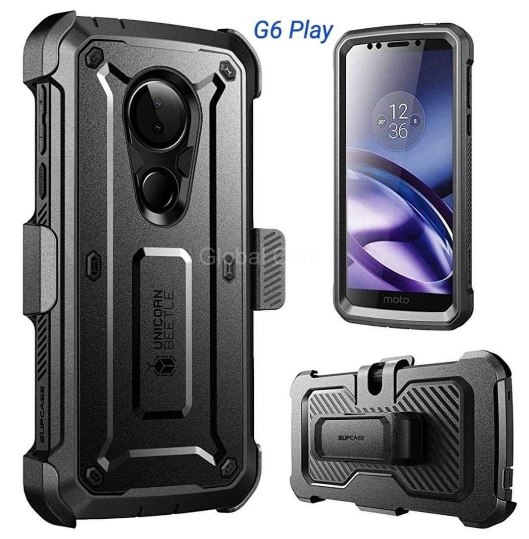Case Protector Moto G6 Play Extremo Funda 360 Armadura USA c/ Gancho