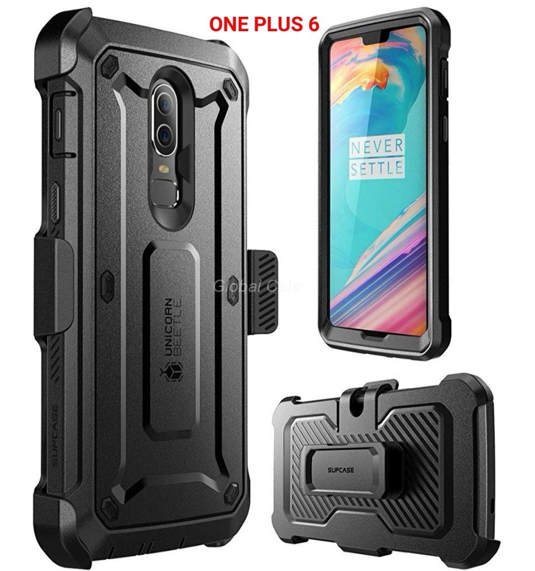 Case OnePlus 6 Funda 360 Armadura c/ Gancho c/ Mica para Alta Protección