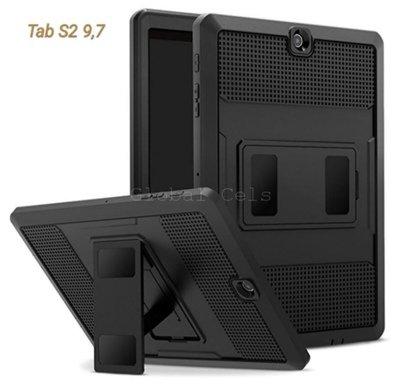 Case Galaxy Tab S2 9,7 con Parante Inclinable Protector Extremo Negros