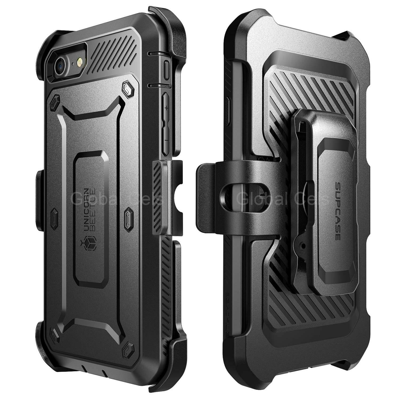 """Case Funda Iphone 7 de 4.7"""" Protector Extremo c/ Gancho Correa c/ MIca"""