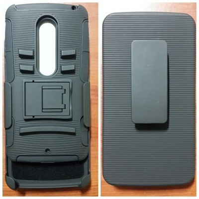 Case Moto X Play Holster Rugged con gancho y parante central anti golpes