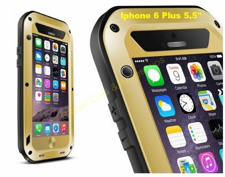 Love Mei Iphone 6 4.7 Case Protector Extremo Funda Aluminio
