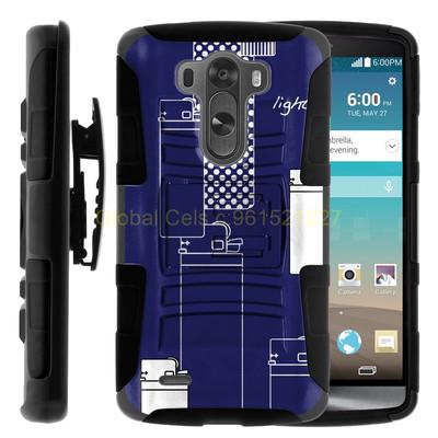 Holster Gorila LG G3 D855 Case con diseño y con clip para correa más Mica Protectora
