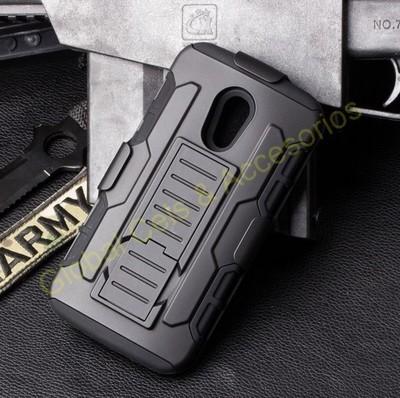 Case Armor MOTO G2 2da Gen con gancho para correa y soporte Inclinable