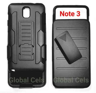 Case Funda Galaxy Note 3 Protector Con Gancho Holster Armor mas soporte para mesa