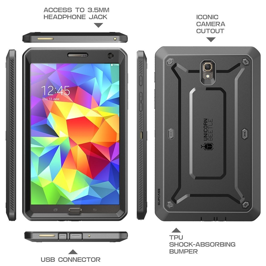 Case Samsung Galaxy Tab S 8,4 Supcase PRO Anti Impactos