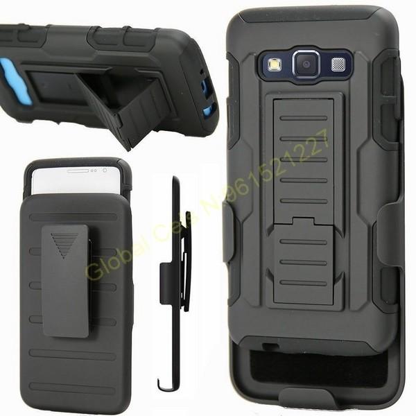 Estuches Holster Samsung Galaxy A3 Gorila con clip gancho y soporte para videos