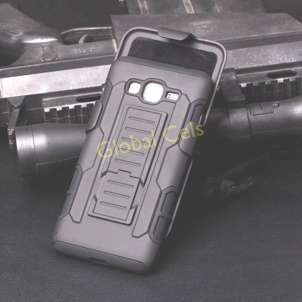 Estuches Gorila Holster Samsung Galaxy Grand Prime clip correa gancho y clip soporte para videos