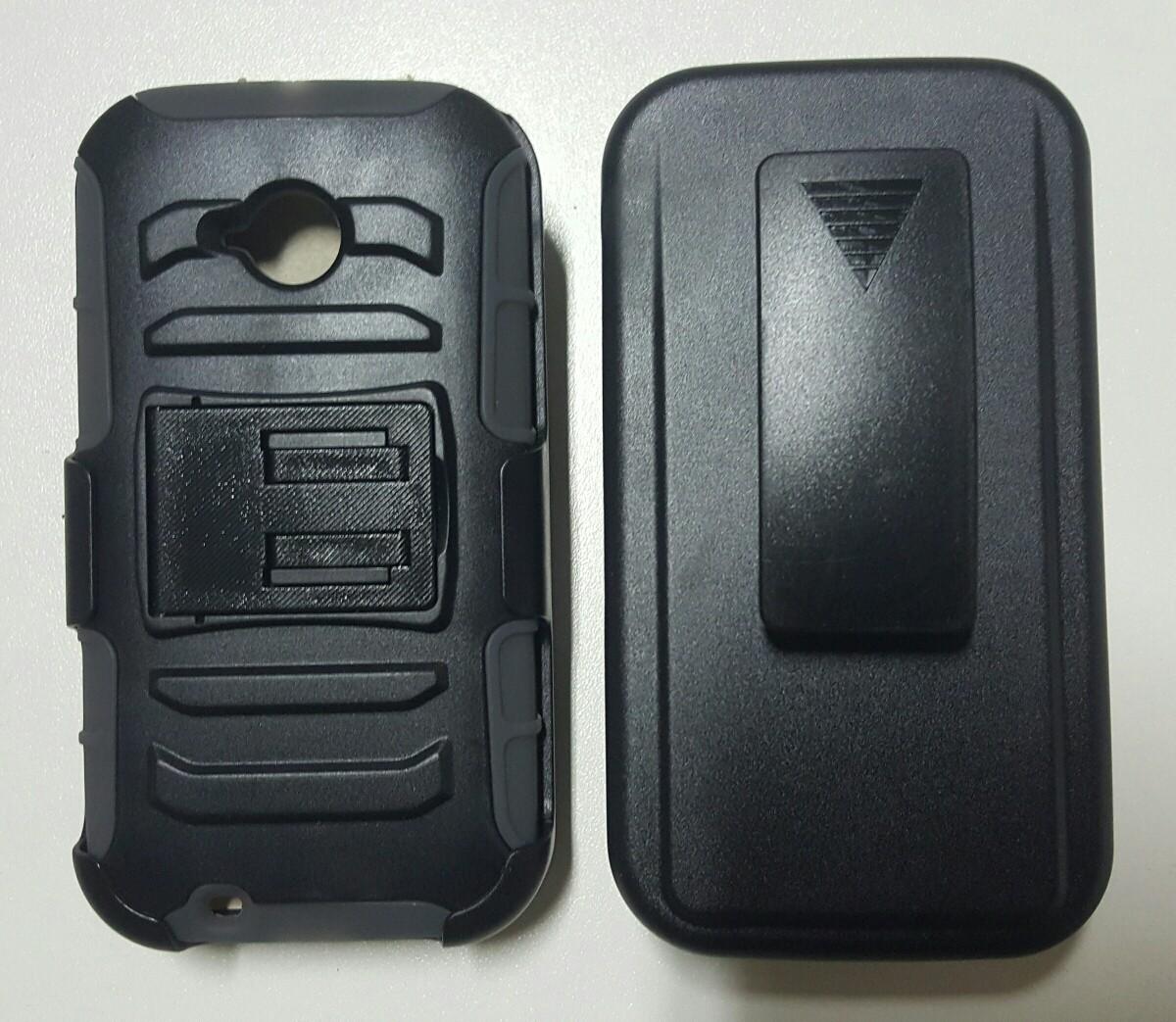 Case Motorola MOTO E XT1527 holster Gorila con gancho para la correa y apoyo inclinable
