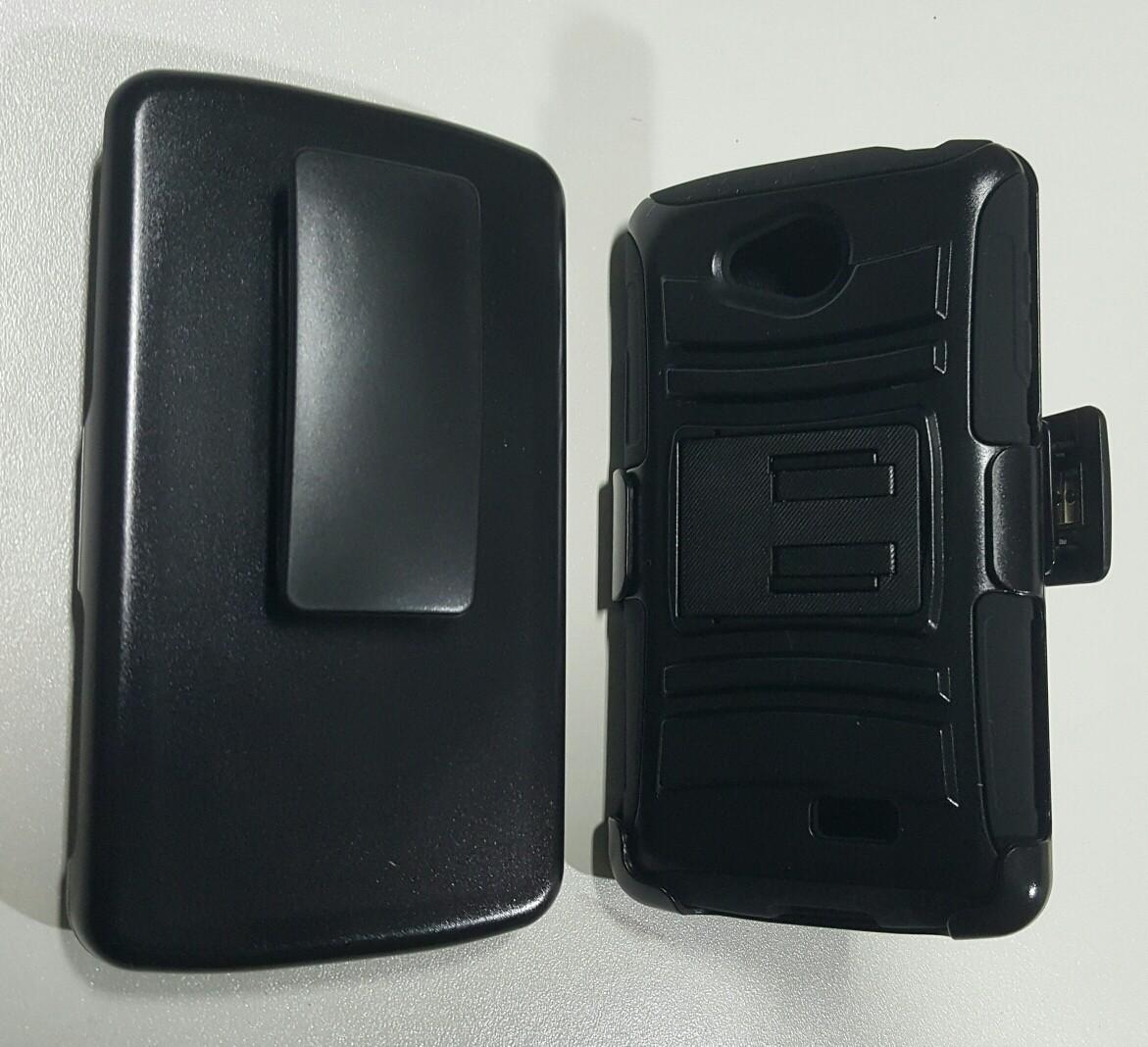 Case LG F60 protector con gancho y soporte de inclinación holster Gorila