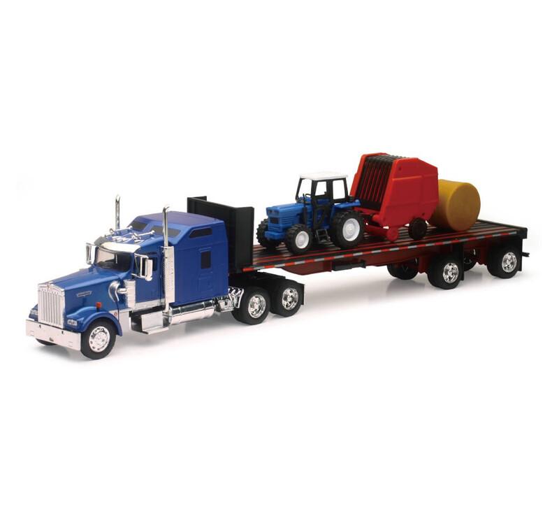 Kenworth W900 plataforma con tractor