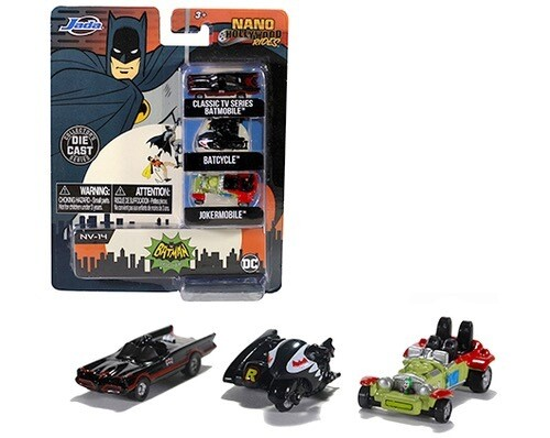Caja Set 1966 Batman Batimoviles Nanos