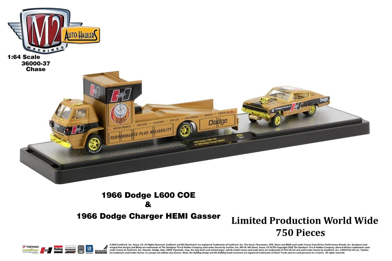 1966 DODGE L600 & Charger Hemi DORADO Chase