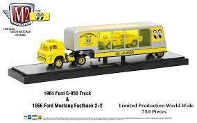 1964 FORD C-950 Truck & '66 Mustang Fastbach 2+2 Chase