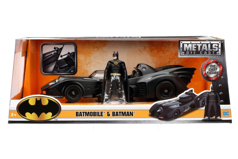 Batimovil Tim Burton 1:24 Jada con Figura de Batman