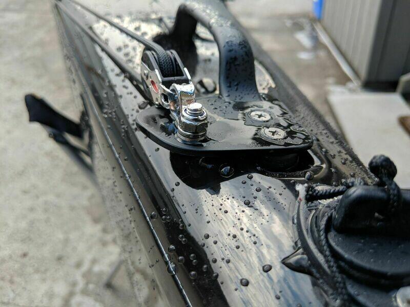 Fishing ski anchor trolley kit