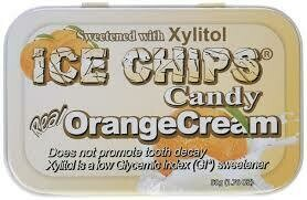 Ice Chips Orange Cream Xylitol Candy
