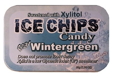 Ice Chips Wintergreen Xylitol Candy