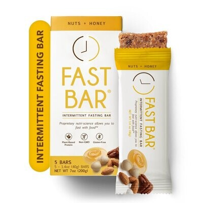 Fast Bar Nuts+Honey Chips - 5 Pack