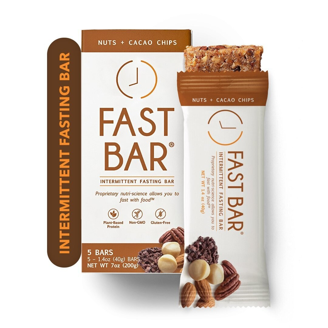 Fast Bar Nuts+Cacao Chips - 5 Pack