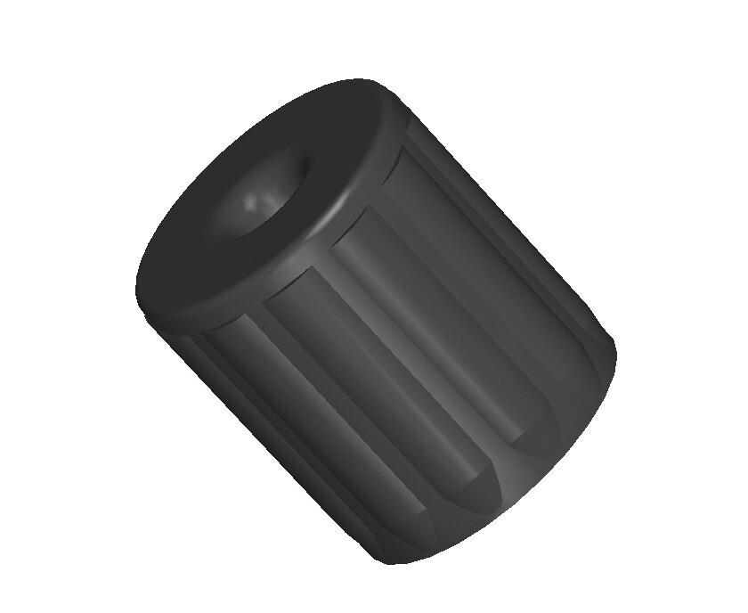 Втулка проходная для мебельной трубы 25 мм с отверстием под саморез (конфирмат)