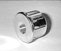 Втулка упорная металлическая для мебельной трубы 25 мм с внутренней резьбой 8 мм