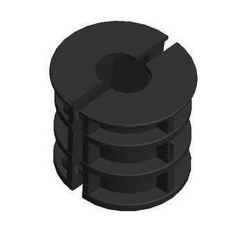 Втулка распорная для мебельной трубы 25 мм с внутренней резьбой 8 мм