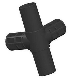 Четверной соединитель для мебельных труб 25 мм