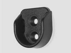 Держатель мебельной трубы 25 мм (штангодержатель) чёрный