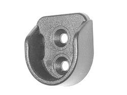 Держатель мебельной трубы 25 мм (штангодержатель) серый