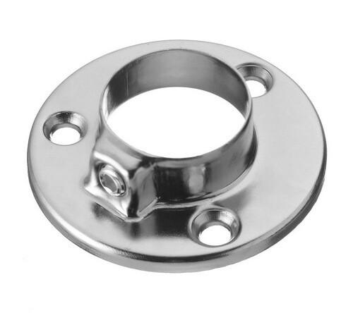 Фланец для мебельной трубы 25 мм (сталь, покрытие-хром)