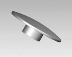 Гайка декоративная для крепления стекла к мебельной трубе 25 мм и 32 мм. Металл, покрытие - хром.