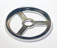 Шайба декоративная для мебельной хромированной трубы 50 мм (покрытие - хром)