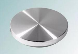 Опора алюминиевая (пятак) D54*М8 (без проточки) для УФО склейки стекла предназначена для сборки стеклянных столов из хромированной трубы 50 мм