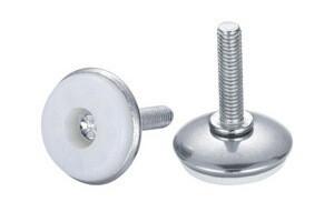 Опора мебельная регулируемая диаметром 30 мм с винтом М8*25 (металл, покрытие-хром)