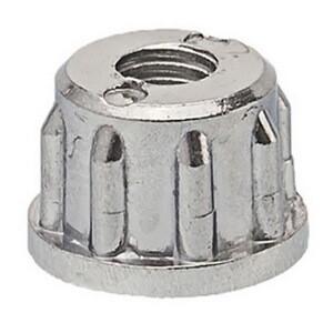 Втулка упорная металлическая для мебельной трубы 25 мм с внутренней резьбой 10 мм (JOKER-R12M)